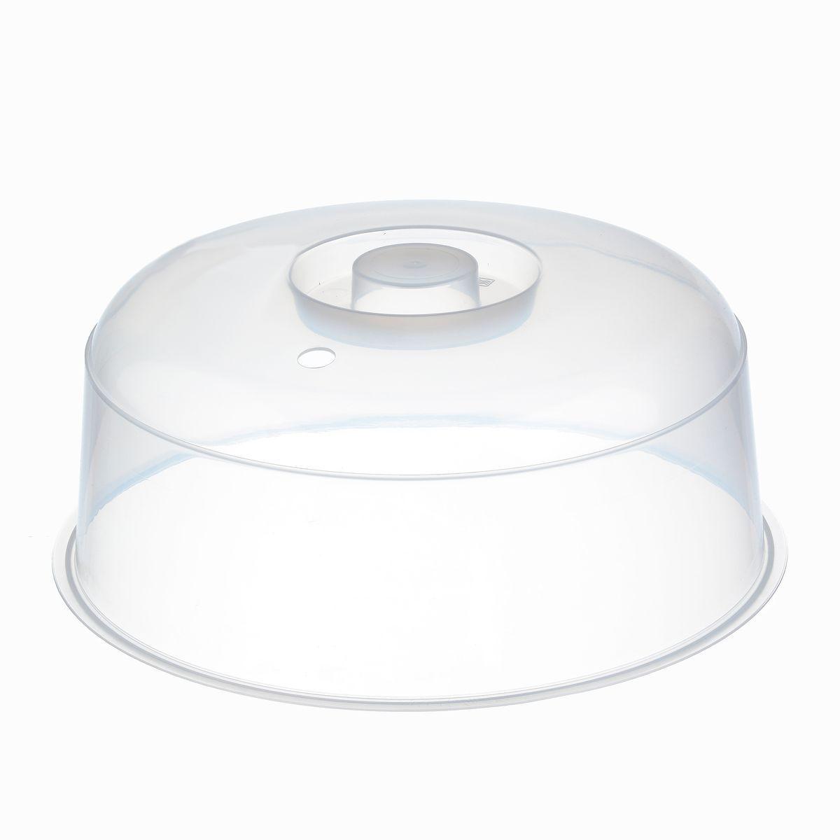 Крышка для СВЧ Idea, цвет: прозрачный, диаметр 24,5 смМ 1415