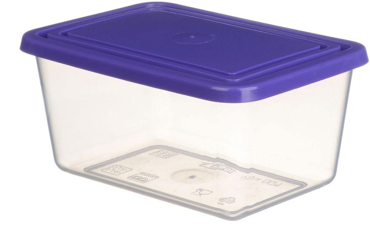 Емкость для продуктов Idea, цвет: прозрачный, фиолетовый, 3 лМ 1454Прямоугольная емкость для продуктов Idea изготовлена из пищевого полипропилена. Крышка из эластичного материала плотно закрывается, дольше сохраняя продукты свежими. Боковые стенки прозрачные, что позволяет видеть содержимое. Емкость идеально подходит для хранения пищи, фруктов, ягод, овощей. В ней также можно хранить разнообразные сыпучие продукты. Такая емкость пригодится в любом хозяйстве.