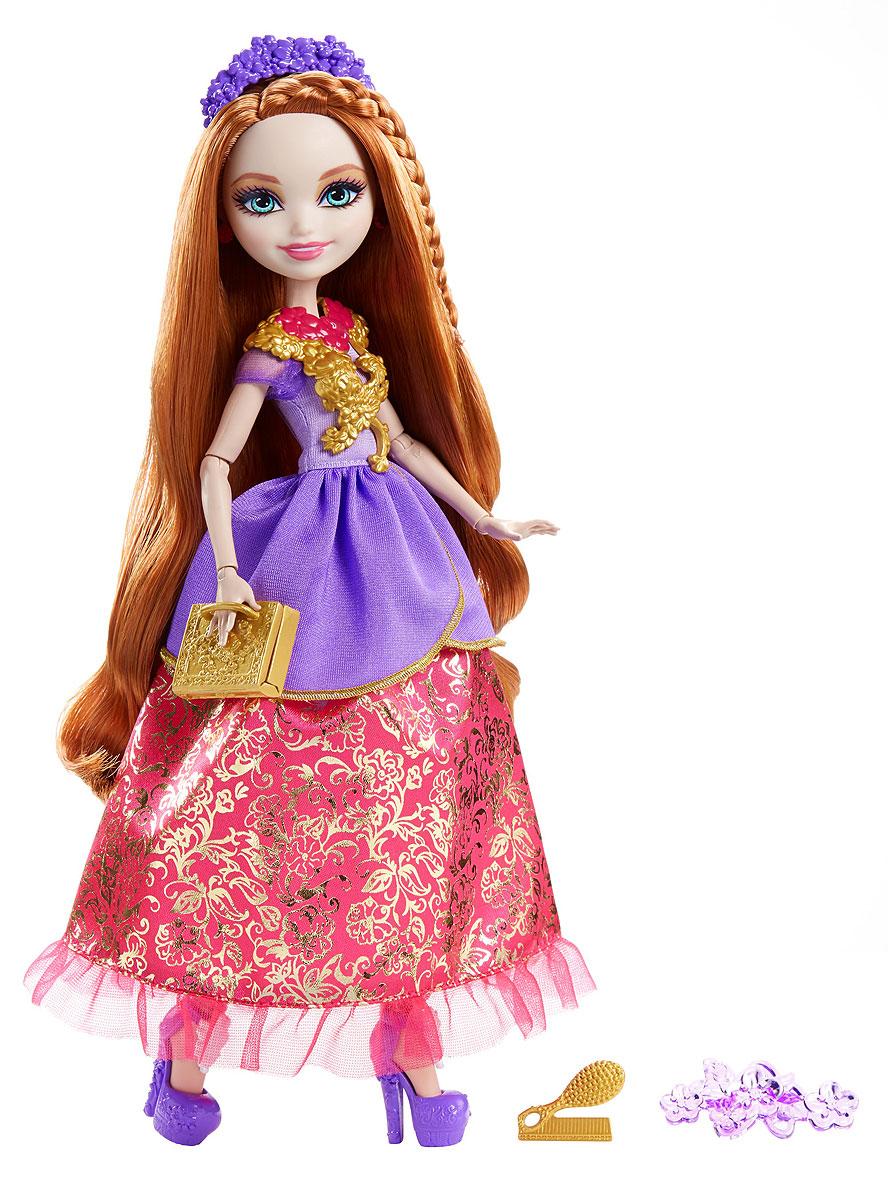Ever After High Отважные принцессы DVJ17_DVJ20DVJ17_DVJ20Могущественным принцессам Ever After High нужен образ под стать! Бальные платья этих кукол с многослойными юбками и сияющими акцентами легко превращаются в повседневные наряды. А детское кольцо поможет превратить сказку в реальность. Выбери Эппл Уайт, Мэдлин Хэттер или Холли О'Хара. У каждой куклы есть нарядные туфли, ободок, сумочка, а также пояс или ожерелье. В руках у Эппл Уайт уникальный золотой скипетр, Мэдлин Хэттер держит на руках свою мышку, а Холли О'Хара приберегла расческу и гребни. Отправься с сказку со счастливым концом с куклами Ever After High.