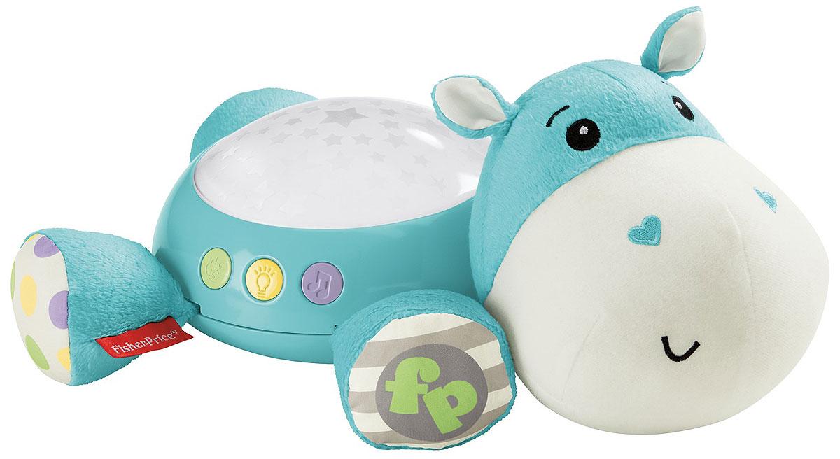 Fisher Price Игрушка-проектор БегемотикCGN86Посадите этого забавного бегемотика на шкаф или стол, чтобы успокоить ребенка. Комната наполнится мягким светом, и ребенка ждут 30 минут музыки и звуков: колыбельные песни, белый шум и звуки природы. Малыш успокоится и заснет в считанные минуты! Поставьте бегемота на шкаф, чтобы наполнить комнату звездным светом из купола на его спинке. Проектор развивает сенсорные навыки, чувство защищенности и радости. Необходимо купить 3 батарейки напряжением 1,5V типа АА (не входят в комплект).