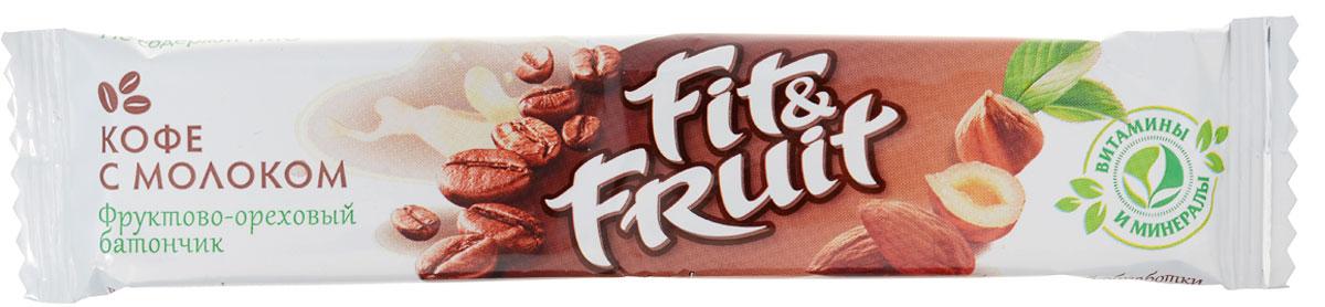 Fit&Fruit Фруктово-ореховый батончик со вкусом кофе с молоком, 40 г 1603003