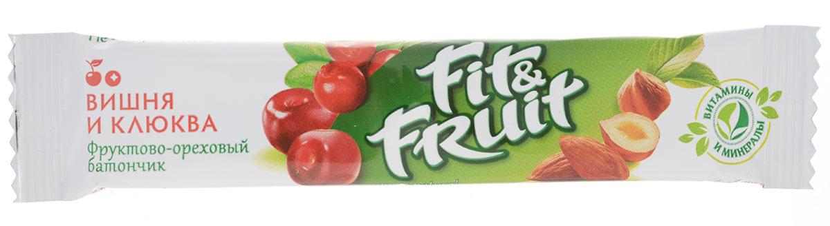 Fit&Fruit Фруктово-ореховый батончик со вкусом вишни-клюквы, 40 г