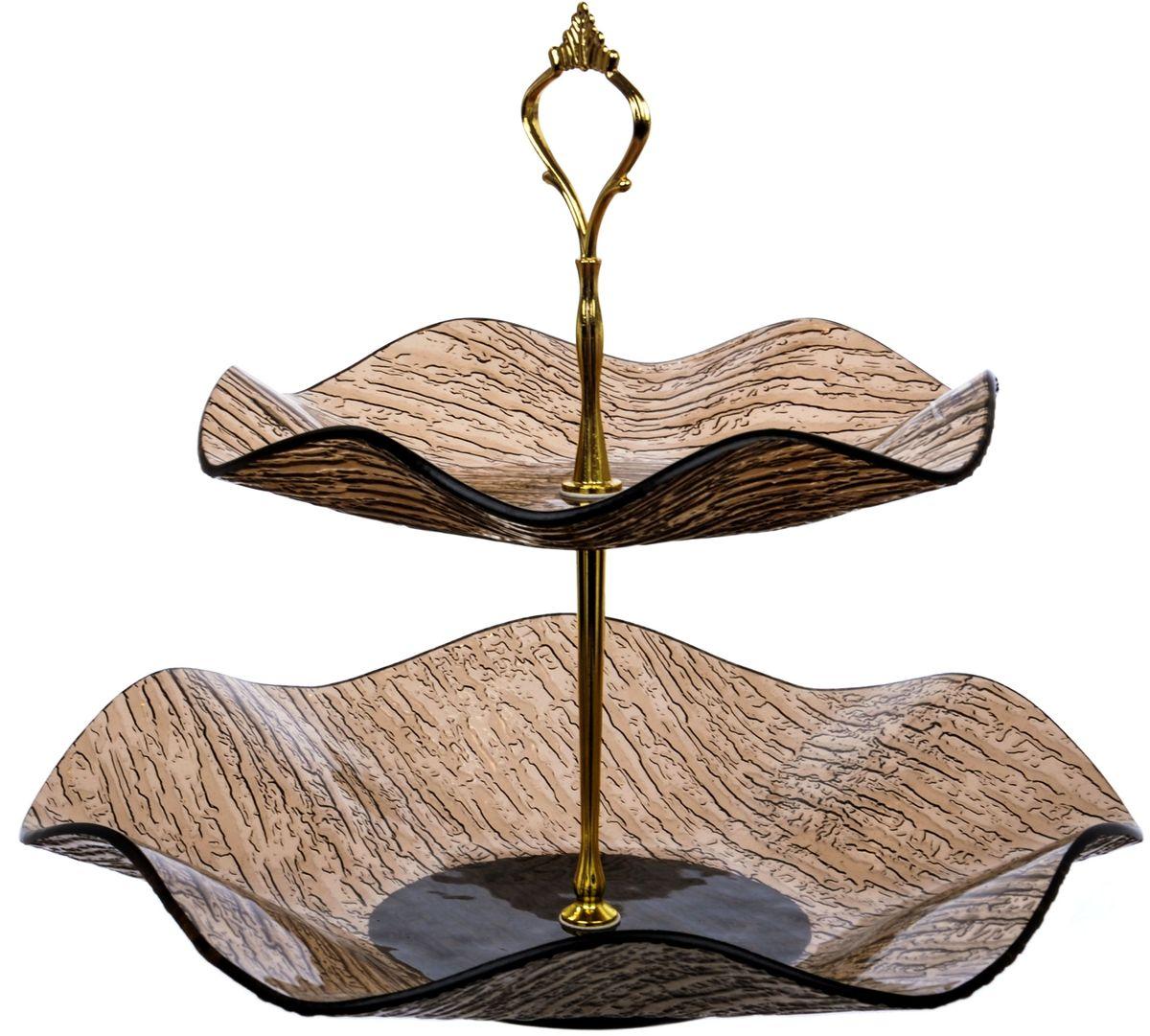 Этажерка 2-х ярусная Арт Дон ВодопадAD10-89VBПосуду в бесцветном варианте и в бронзе можно мыть в ПММ. Допускается использование в СВЧ. Рекомендуется избегать любого механического воздействия на стекло во избежание его крушения. Узорчатое стекло изготавливается методом его нагрева и проката по твердому основанию, которое имеет заданный рельеф. При остывании такого стекла получается изделие, наделенное рельефным узором. Для такой обработки подходит окрашенное в массе, осветленное или обыкновенное стекло. На выходе мы получаем безопасную посуду из моллированного (изогнутого) узорчатого стекла, которая имеет рифленую поверхность снаружи и гладкую внутри. Наличие множества граней преломляет свет, из-за чего посуда выглядит ярко, необычно, оригинально.