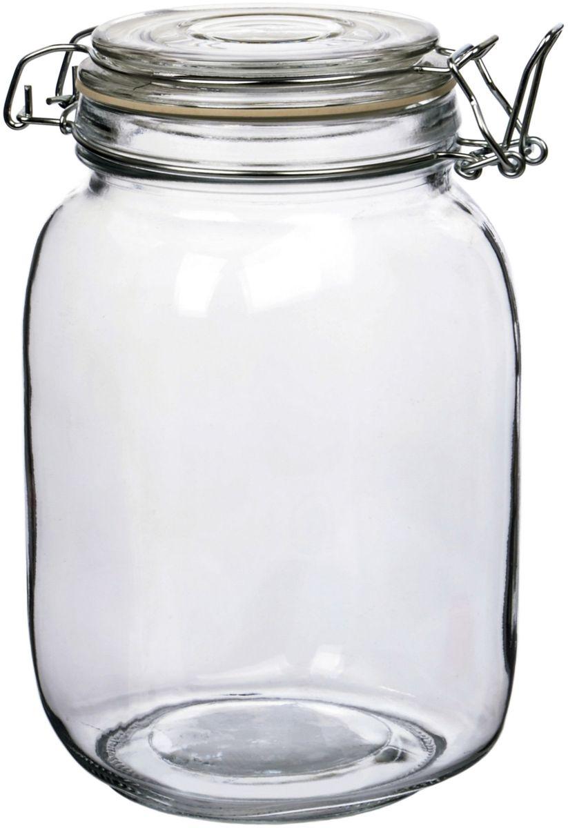 """Банка для сыпучих продуктов """"Zibo Shelley"""" со стеклянной крышкой, 1400 мл"""