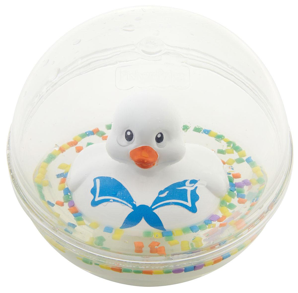 Fisher Price Развивающая игрушка Уточка цвет белыйDVH21_DRD81Развивающая игрушка Fisher Price Уточка - это новый взгляд на игрушку-бестселлер со свежим дизайном и дополнительными узорами. Классическая модель игры для малышей. Игрушка представляет собой пластиковую уточку, плавающую в жидкости в прозрачном пластиковом шаре. Играть с такой уточкой можно не только в ванной, но и в любом удобном месте.