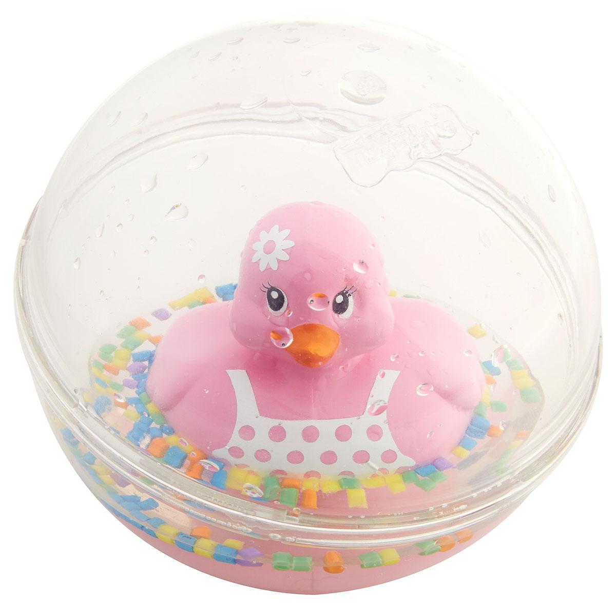 Fisher Price Развивающая игрушка Уточка цвет розовыйDVH21_DRD82Развивающая игрушка Fisher Price Уточка - это новый взгляд на игрушку-бестселлер со свежим дизайном и дополнительными узорами. Классическая модель игры для малышей. Игрушка представляет собой пластиковую уточку, плавающую в жидкости в прозрачном пластиковом шаре. Играть с такой уточкой можно не только в ванной, но и в любом удобном месте.