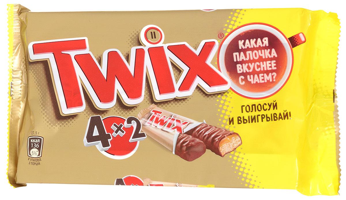 Twix Мультипак батончик, 220 г79006011Шоколадные батончики Twix  - это хрустящее печенье, густая карамель и великолепный молочный шоколад. Чаепитие с Twix в компании коллег, друзей или родных - отличное способ провести свободное время. Сделай паузу - скушай Twix. Уважаемые клиенты! Обращаем ваше внимание, что полный перечень состава продукта представлен на дополнительном изображении. Упаковка товара может иметь несколько видов дизайна.