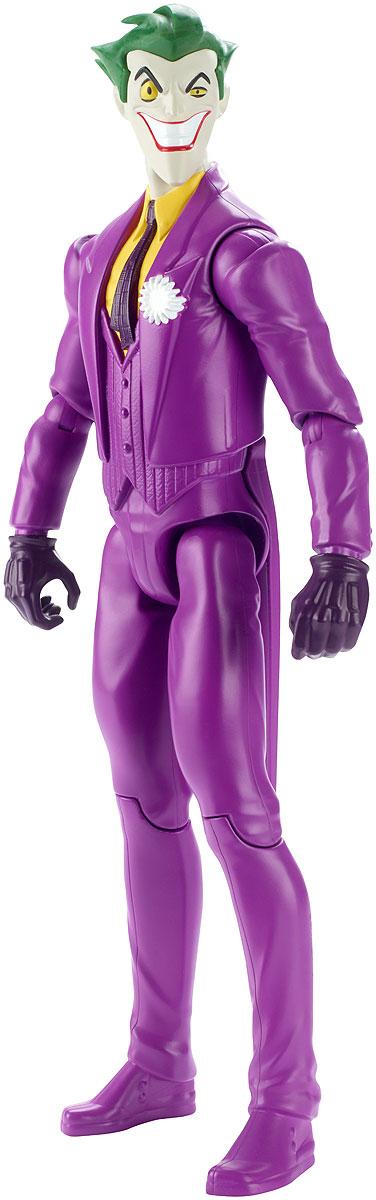 Batman Фигурка ДжокерFBR02_DWM52Фигурка Batman Джокер станет отличным подарком юному поклоннику комиксов DC Comics. Джокер (англ. Joker - Шутник) - суперзлодей вселенной DC Comics, заклятый враг Бэтмена. Джокер носит фиолетовый костюм и сражается при помощи предметов, которые стилизованы под реквизит клоуна и иллюзиониста. Человек, ставший Джокером, упал в кислоту, испугавшись Бэтмена, когда в костюме Красного колпака участвовал в ограблении карточной фабрики. В результате он сошёл с ума, получил белую кожу, чёрные круги вокруг глаз и зелёные волосы, а на лице у него навсегда застыла улыбка. Эта 30-сантиметровая фигурка идеально передает уникальный образ и безукоризненный стиль персонажа Лиги Справедливости. Голова фигурки поворачивается, руки и ноги сгибаются, чтобы Джокер мог принимать самые невероятные позы. Выбери Бэтмена, Супермена, Флеша, Чудо-женщину, Джокера или других героев, чтобы воссоздать свои любимые схватки между супергероями и суперзлодеями вселенной DC Comics!