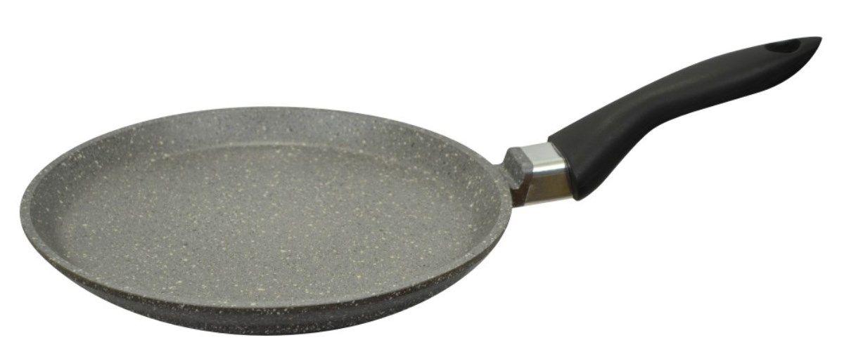 Сковорода блинная Мечта Гранит, с антипригарным покрытием. Диаметр 20 см10701Литая алюминиевая посуда Мечта с покрытием повышенной стойкости серии Granit позволяет равномерно распределять и прекрасно удерживать тепло, экономить электроэнергию и готовить пищу быстрее. Значительная толщина стенок и дна исключает деформацию корпуса изделий, гарантирует долговечность посуды.Антипригарное покрытие премиум класса GRANIT ЛЮКС представляет собой многослойную систему, упроченную кристаллами минералов. Данные кристаллы выполняют роль армирующего звена, благодаря чему получается мощнейшая монолитная структура, которая многократно повышает прочностные и антипригарные свойства. Покрытие разработано немецкой компанией Weilburger Coatings GmbH под торговой маркой Greblon. Покрытие имеет сертификаты FDA (Управления по надзору за качеством пищевых продуктов и медикаментов США), BFR (Федеральный институт оценки рисков в Германии) и LGA (институт независимых испытаний в Германии) Не содержит перфтороктановую кислоту (PFOA), разработан на водной основе.Антипригарное покрытие...