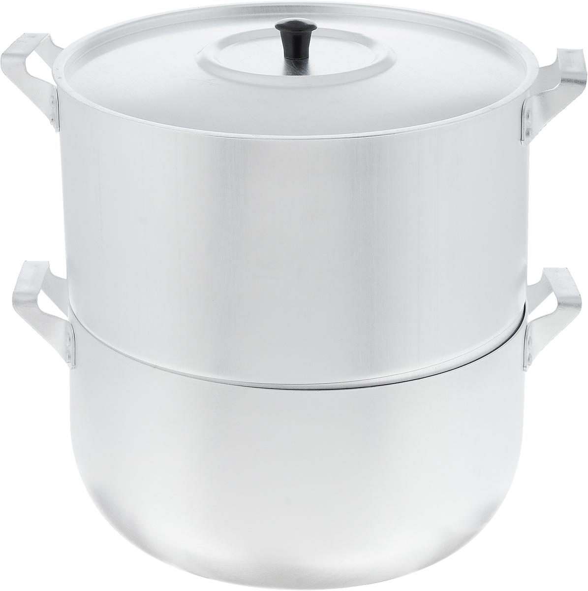 Мантоварка Scovo с крышкой, 4 яруса, 6 лМТ-040Мантоварка Scovo изготовлена из высококачественного алюминия, что делает посуду износостойкой, прочной и практичной. Глубина уровней изделия, диаметр отверстий и объем специально предназначены для приготовления мантов. В мантоварке также можно готовить и другие блюда: овощи, котлеты или пельмени. Готовить на пару очень просто, продукты не пригорают и не склеиваются, а готовое блюдо выходит рассыпчатым и ароматным. Питательные элементы и витамины не растворяются в воде, а остаются в продуктах. Еда получается не только полезной, но и по-настоящему вкусной. Подходит для газовых и электрических плит. Внутренний диаметр нижней кастрюли: 26 см. Внутренний диаметр верхнего корпуса: 26 см. Общая высота стенки мантоварки: 25,5 см. Расстояние между решетками (ярусами) мантоварки: 3 см. Диаметр отверстий: 1 см.