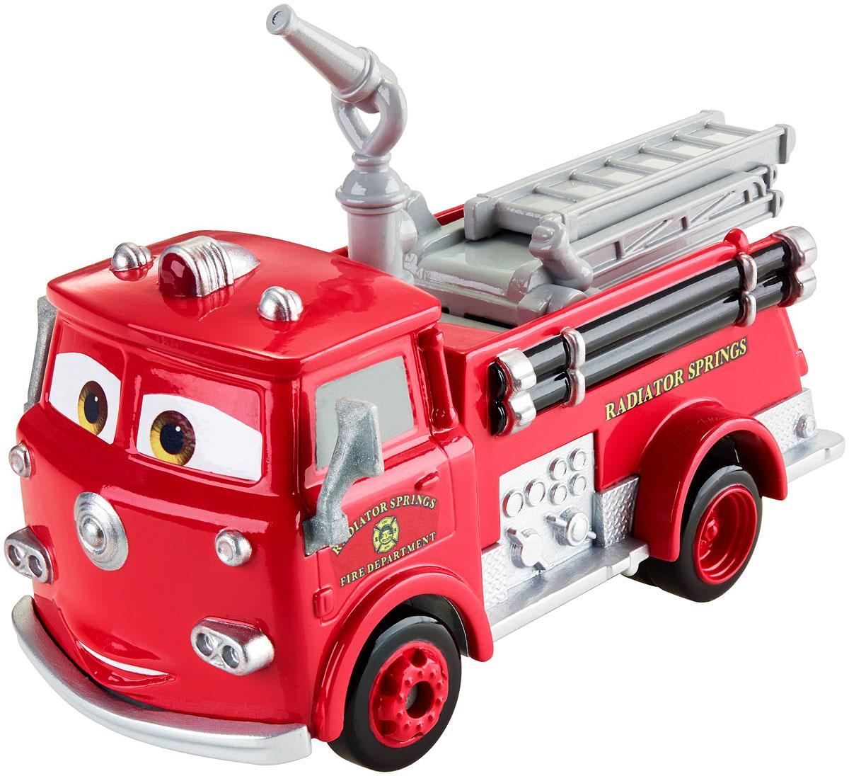 Cars Машинка РэдDVD28_DKV37Еще больше веселья с крупноразмерными моделями машин из Тачек. У каждой модели имеются двигающиеся детали, отражающие характер персонажа! С этой коллекцией фанаты всех возрастов смогут воссоздать приключения любимых персонажей! Тачки - мультфильм, в котором рассказывается о гоночном автомобиле Молнии МакКуин, он был лидером в своей среде, но по воле случая попал в невероятную историю благодаря которой узнал, что такое настоящая дружба и совместное стремление к цели. Одним из персонажей, который находился рядом с МакКуином, был Рэд. Он всегда спешит на помощь к нуждающимся, имеет раскладную лестницу и двигающийся брандспойт. Вы сможете реализовать игру, в которой Рэд спешит потушить пожар или же просто едет поливать цветы. Благодаря выразительному образу и высокой детализации персонаж выглядит так, будто только что сошел с экрана.