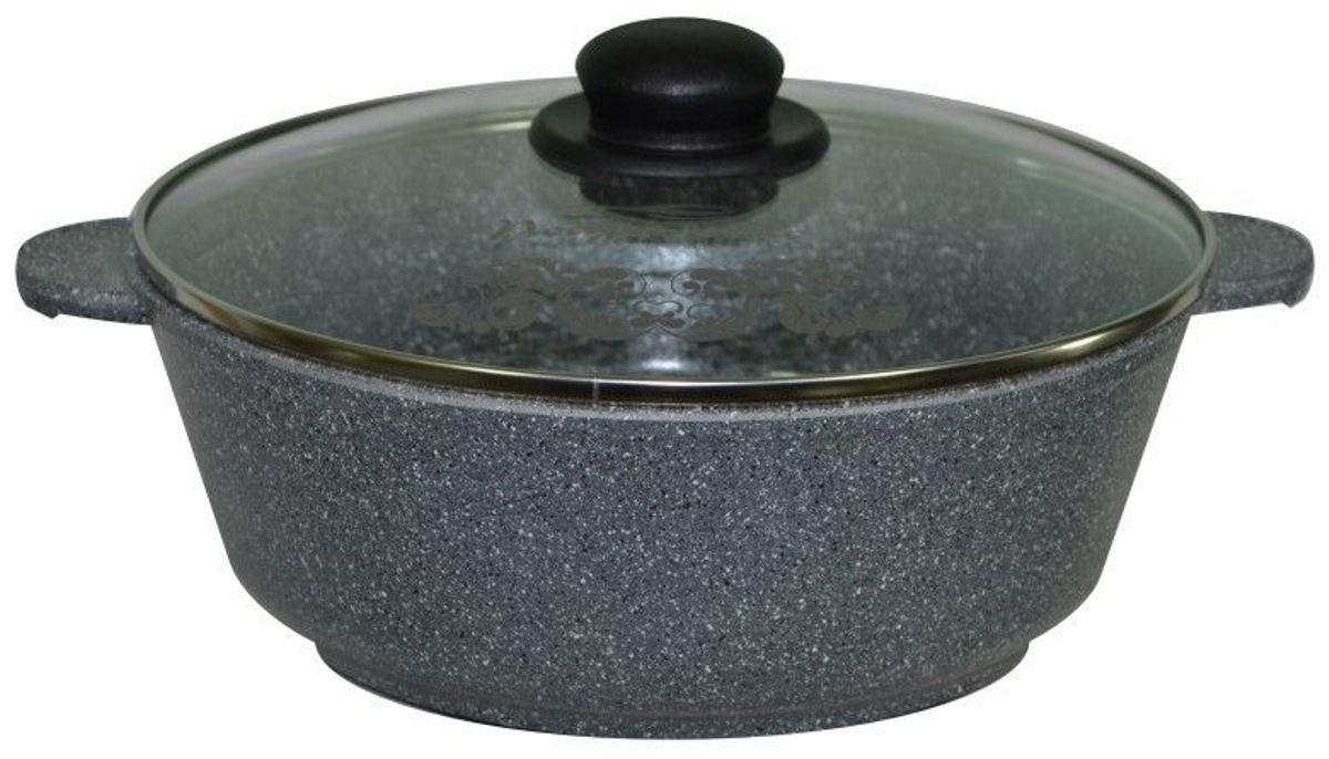 Жаровня Мечта Гранит, с крышкой, с антипригарным покрытием, 3,5 л35701Литая алюминиевая посуда Мечта с покрытием повышенной стойкости серии Granit позволяет равномерно распределять и прекрасно удерживать тепло, экономить электроэнергию и готовить пищу быстрее. Значительная толщина стенок и дна исключает деформацию корпуса изделий, гарантирует долговечность посуды.Антипригарное покрытие премиум класса GRANIT ЛЮКС представляет собой многослойную систему, упроченную кристаллами минералов. Данные кристаллы выполняют роль армирующего звена, благодаря чему получается мощнейшая монолитная структура, которая многократно повышает прочностные и антипригарные свойства. Покрытие разработано немецкой компанией Weilburger Coatings GmbH под торговой маркой Greblon. Покрытие имеет сертификаты FDA (Управления по надзору за качеством пищевых продуктов и медикаментов США), BFR (Федеральный институт оценки рисков в Германии) и LGA (институт независимых испытаний в Германии) Не содержит перфтороктановую кислоту (PFOA), разработан на водной основе.Антипригарное покрытие...