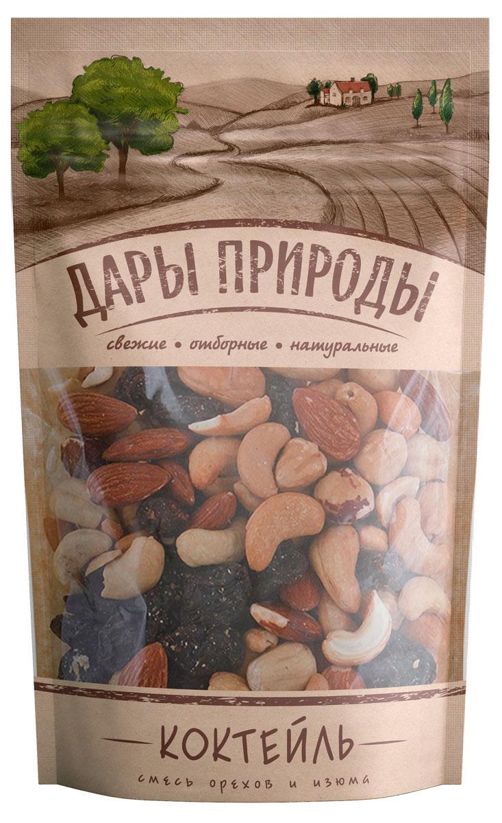 Дары природы Коктейль смесь орехов и изюма, 150 г 1745
