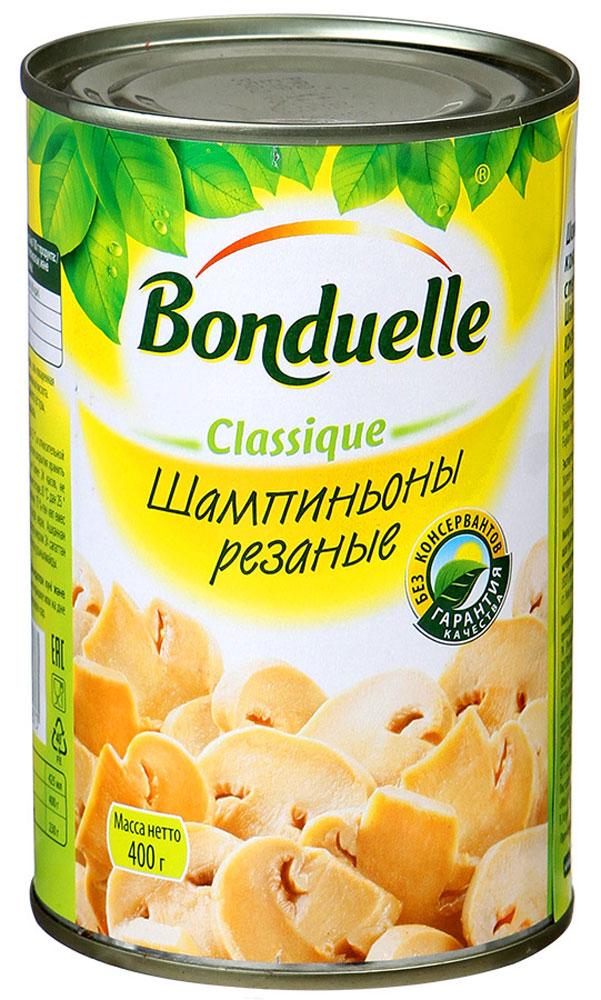 Bonduelle шампиньоны резаные, 400 г5530Шампиньоны Bonduelle - универсальный ингредиент для любого блюда. Грибы проходят тщательный отбор: только молодые, собранные на пике созревания грибы одинакового цвета и размера попадут к вам на стол.