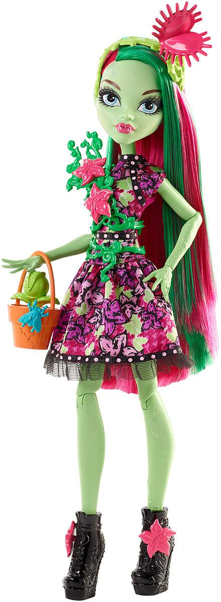 Monster High Монстряшки с длинными волосами FDF11_FDF14FDF11_FDF14Куклы Monster High оделись для вечеринки и оживили свои наряды сумасшедшими сумочками! Выбери Эбби Боминейбл, Венеру Макфлайтрап или Рошель Гойл. Ученицы выглядят потрясающе в своих стильных платьях. У каждого — свой цвет, узнаваемый принт и модный силуэт. Доведи образ до совершенства, используя забавные съемные аксессуары, которые можно прикрепить к шикарным туфлям, фантастическим браслетам, ремням и даже к звериным сумочкам. Устрой вечеринку со своими друзьями из Monster High и учись любить то, что делает тебя уникальной. В комплекте кукла Monster High в модном наряде с аксессуарами и звериной сумочкой.