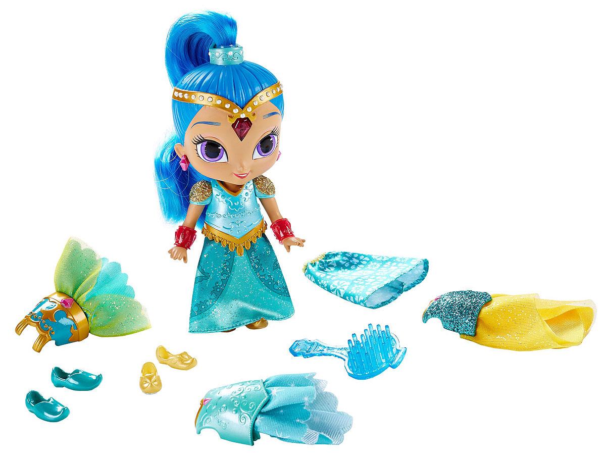 Shimmer & Shine Мини-кукла Magic Dress ShineDGL78_DGL81Знакомьтесь, это Shine! Shine - это отважная и уверенная в себе джинна, которая всегда готова помочь не только делом, но и своей мудростью. Она смелая и любит животных, с особенной любовью она заботится о своем домашнем любимце - Бенгальском тигренке. В набор Shimmer & Shine Magic Dress Shine входит все, что нужно для костюмированного приключения! Эти потрясающие волшебные наряды можно надеть на мини-куклу Shine одним движением руки. Маленькая джинна наряжается быстрее, чем люди!