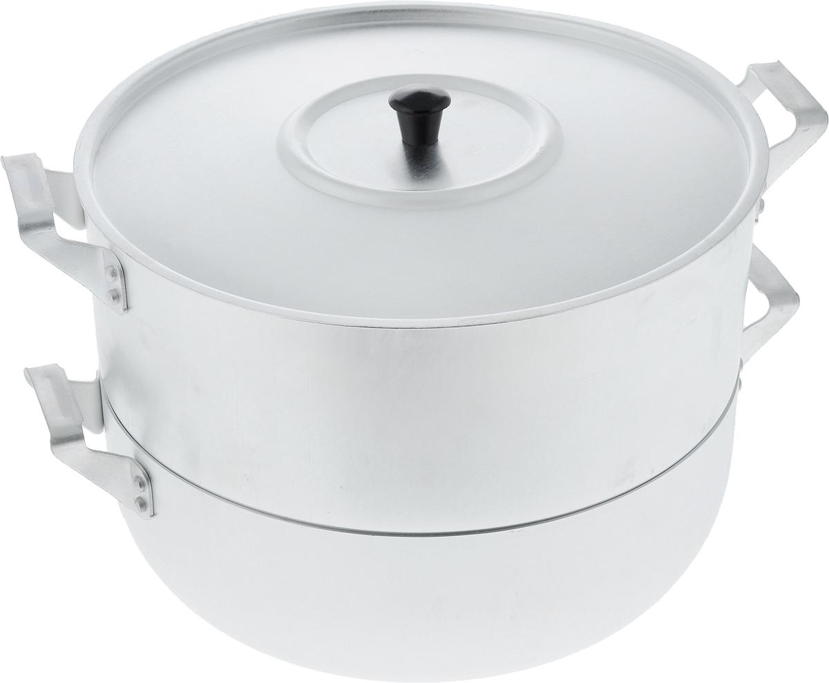 Мантоварка Scovo Эконом с крышкой, 3 яруса, 4,5 лМТ-039Мантоварка Scovo Эконом изготовлена из высококачественного алюминия, что делает посуду износостойкой, прочной и практичной. Глубина уровней изделия, диаметр отверстий и объем специально предназначены для приготовления мантов. В мантоварке также можно готовить и другие блюда: овощи, котлеты или пельмени. Готовить на пару очень просто, продукты не пригорают и не склеиваются, а готовое блюдо выходит рассыпчатым и ароматным. Питательные элементы и витамины не растворяются в воде, а остаются в продуктах. Еда получается не только полезной, но и по-настоящему вкусной. Подходит для газовых и электрических плит. Внутренний диаметр нижней кастрюли: 26 см. Внутренний диаметр верхнего корпуса: 26 см. Общая высота стенки мантоварки: 18 см. Расстояние между решетками (ярусами) мантоварки: 3,5 см. Диаметр отверстий: 1 см.