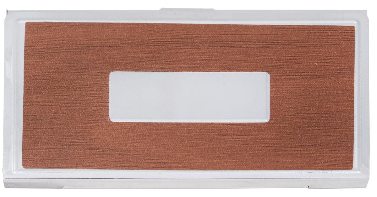 Визитница Mitya Veselkov Vizmet, цвет: коричневый. VIZMET-BROWN-simVIZMET-BROWN-simКлассическая металлическая визитница. Удобно организует визитки.