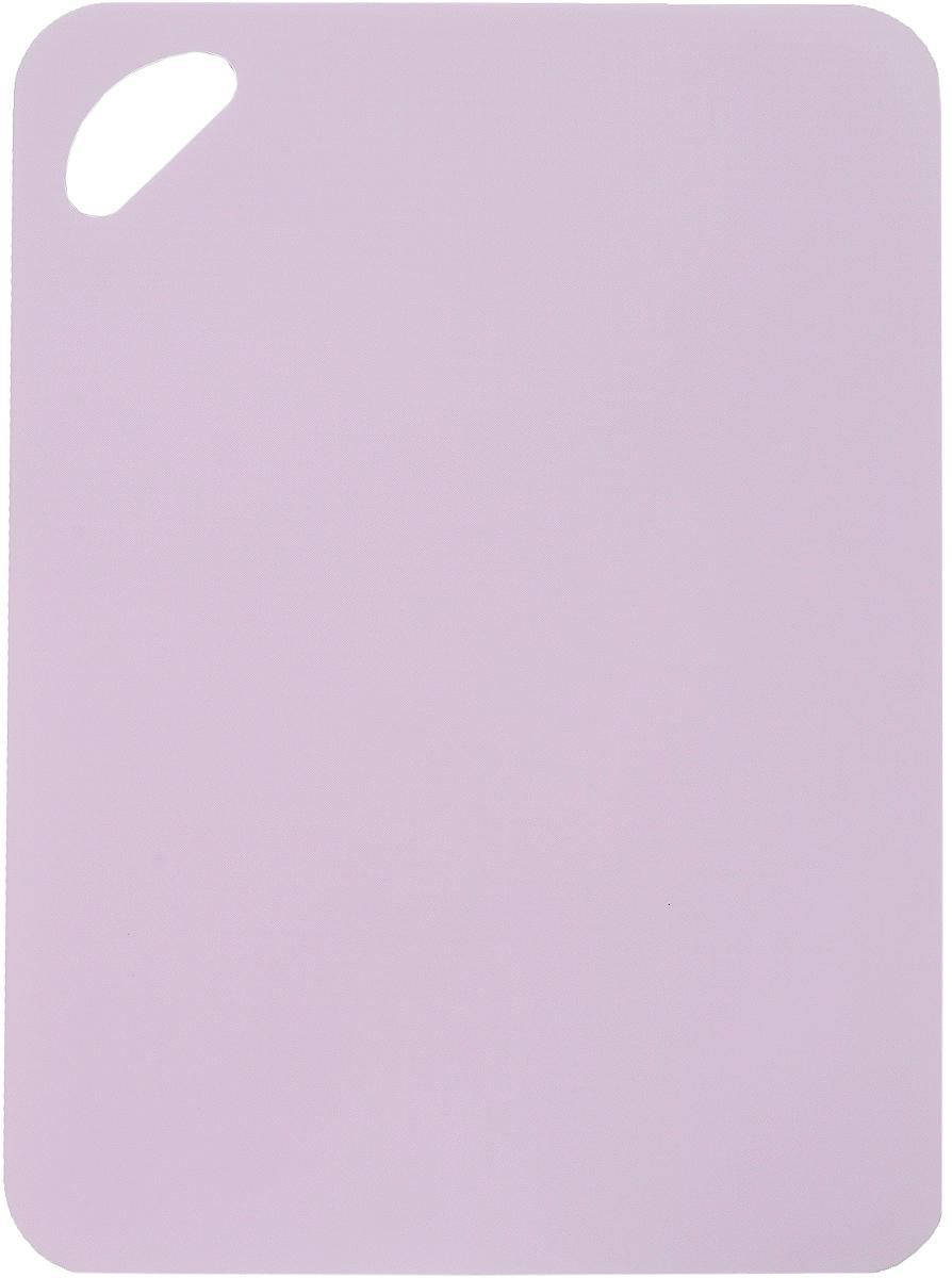 Доска разделочная LaraCook, гибкая, цвет: розовый, 25 х 34 смLC-1132Гибкая разделочная доска LaraCook прекрасно подходит для разделки всех видов пищевых продуктов. Изготовлена из гибкого одноцветного полипропилена (пластика) для удобства переноски и высыпания. Изделие оснащено отверстием для подвешивания на крючок и нескользящей внутренней поверхностью. Можно мыть в посудомоечной машине.