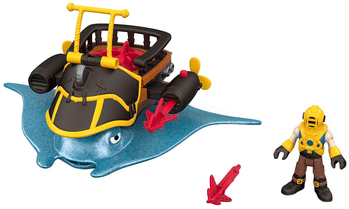 Imaginext Игровой набор Капитан Немо и скат DHH64_DTH43DHH64_DTH43Йо-хо-хо! С этими игрушками юные любители пиратов могут дать волю своей фантазии и отправиться покорять моря. В этом им поможет фигурка пирата и невероятные аксессуары для защиты территории и своих сокровищ! Собери всех пиратов и устрой битву буканьеров! (Наборы продаются отдельно. ) Imaginext … Turn on Adventure! О продукте В набор входит фигурка пирата и забавная интерактивная игрушка. Собери всех пиратов для лихих приключений! (Наборы продаются отдельно. )