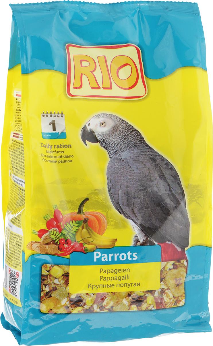 Корм для крупных попугаев Rio, 1 кг52955Корм Rio - полнорационное питание для крупных попугаев. Тщательно сбалансированная зерновая смесь для ежедневного кормления обеспечит птицу всеми необходимыми питательными веществами. Содержит воздушные зерна, сушеные фрукты и овощи, редкие плоды и ягоды. Товар сертифицирован.