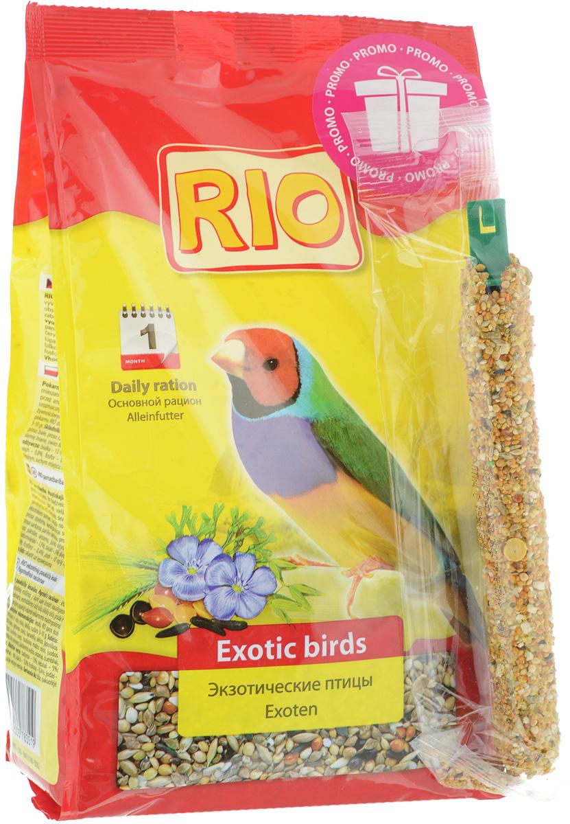 Корм для экзотических видов птиц Rio, 1 кг + ПОДАРОК: Лакомство60739Основной корм Rio - тщательно сбалансированная зерновая смесь для ежедневного кормления амадин, астрильдов и других видов ткачиков. В состав отобраны самые полезные и любимые зерна и семена, такие как мелкие сорта проса и редкие компоненты: паникум желтый, паникум красный, пайза, абиссинский нуг и другие. Они обеспечат вашу птицу всеми необходимыми питательными веществами. В подарок входит лакомство, которое можно подвесить в клетке. Товар сертифицирован.