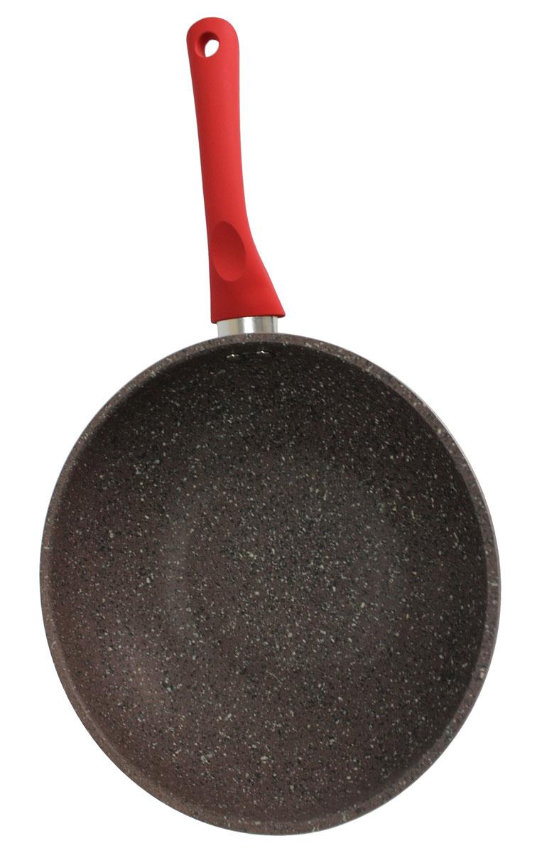 Сотейник Satoshi Вива, диаметр 26 см846344Сотейник диаметром 26 см из литого алюминия с 2-х слойным гранитным антипригарным покрытием серого цвета изнутри и снаружи, с пластиковой ручкой с покрытием софт-тач и индукционным дном - подходит для всех типов плит, включая индукцию.