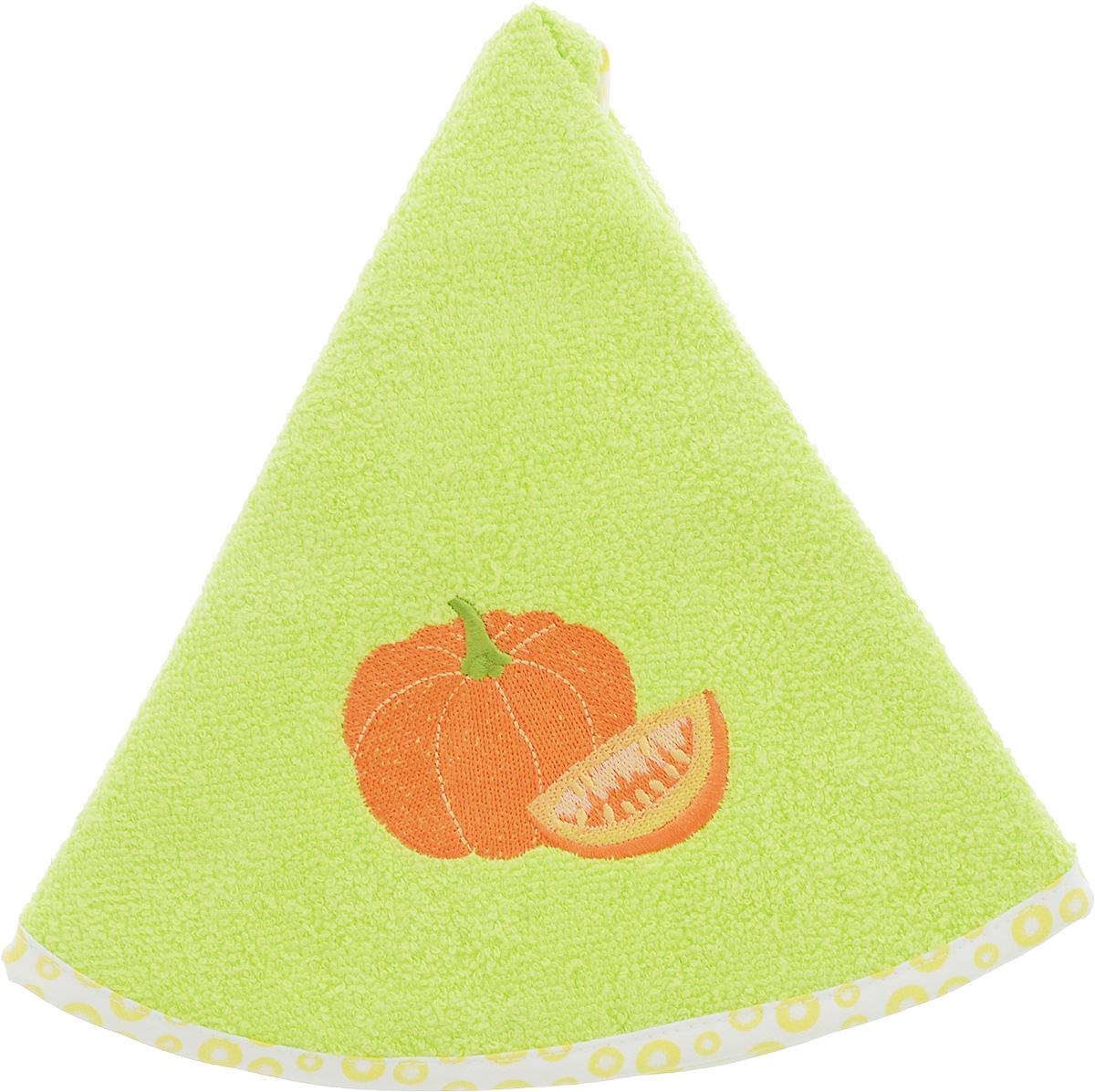 Полотенце кухонное Karna Zelina. Тыква, цвет: салатовый, оранжевый, диаметр 50 см504/CHAR005_салатовыйКруглое кухонное полотенце Karna Zelina. Тыква изготовлено из 100% хлопка, поэтому является экологически чистым. Качество материала гарантирует безопасность не только взрослым, но и самым маленьким членам семьи. Изделие мягкое и пушистое, оснащено удобной петелькой и украшено оригинальной вышивкой. Кухонное полотенце Karna сделает интерьер вашей кухни стильным и гармоничным. Диаметр полотенца: 50 см.