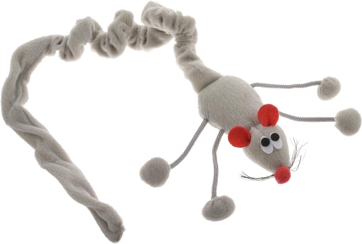Игрушка для кошек I.P.T.S. Дразнилка-мышь, подвесная, цвет: темно-серый, длина 52-89 см430238_темно-серыйИгрушка I.P.T.S. Дразнилка-мышь, изготовленная из текстиля, выполнена в виде удочки с подвесной плюшевой мышкой и предназначена для активных игр с кошкой. Такая игрушка не навредит здоровью вашего питомца и увлечет его на долгое время. Длина: 52-89 см.