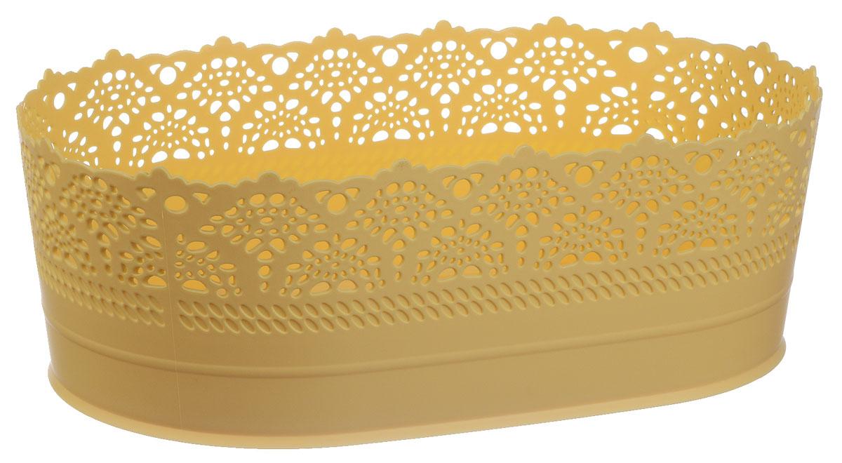 Сухарница Idea Ажур, цвет: желтый, длина 28 смМ 1191Оригинальная сухарница Idea Ажур, выполненная из пластика, послужит приятным и полезным сувениром для близких и знакомых и, несомненно, доставит массу положительных эмоций своему обладателю. Длина: 28 см.