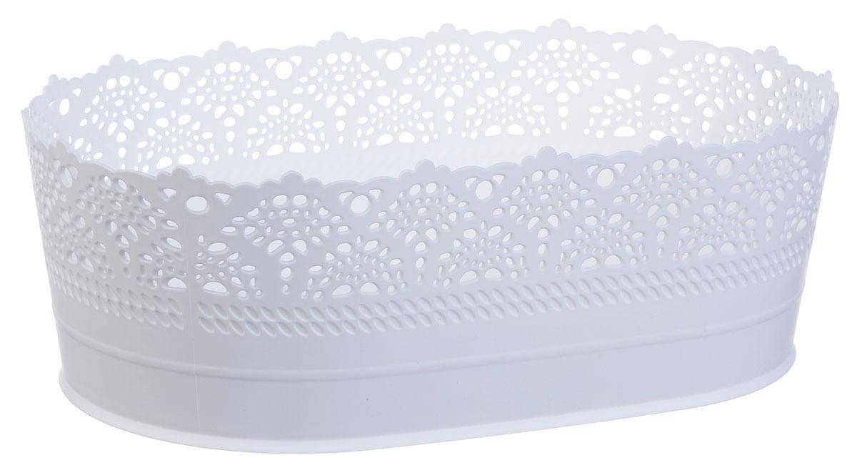 Сухарница Idea Ажур, цвет: белый, диаметр 28 смМ 1191