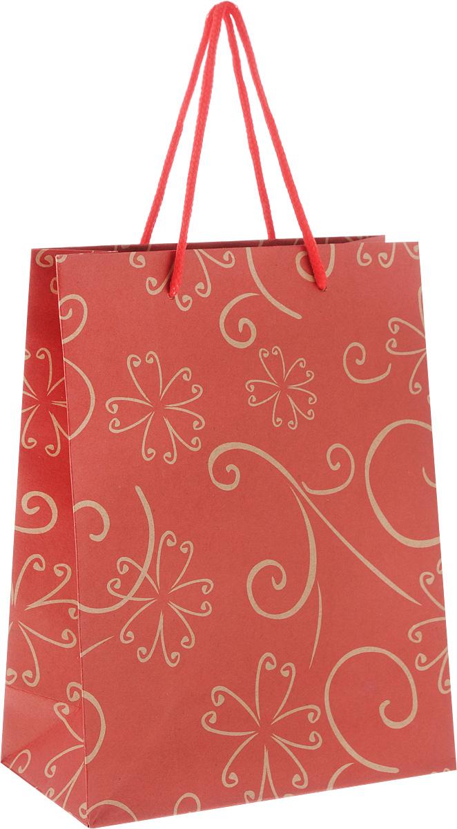 Пакет подарочный Феникс-Презент Цветочный узор, 19 х 8 х 24,5 см43741Подарочный пакет Феникс-Презент Цветочный узор, изготовленный из плотной крафт-бумаги, станет незаменимым дополнением к выбранному подарку. Дно изделия укреплено картоном, который позволяет сохранить форму пакета и исключает возможность деформации дна под тяжестью подарка. Пакет украшен цветочным узором. Для удобной переноски имеются две текстильные ручки в виде шнурков. Подарок, преподнесенный в оригинальной упаковке, всегда будет самым эффектным и запоминающимся. Окружите близких людей вниманием и заботой, вручив презент в нарядном, праздничном оформлении.