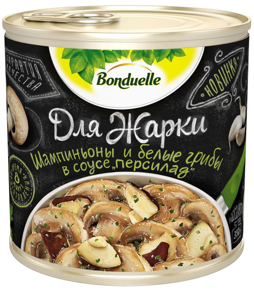 Bonduelle шампиньоны и белые грибы в соусе персилад