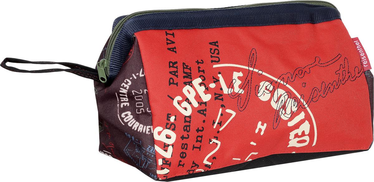 Косметичка Reisenthels, цвет: красный, мультиколор. WC7037WC7037Косметичка Reisenthel выполнена из высококачественного полиэстера. Изделие оформлено оригинальным принтом. Косметичка закрывается на застежку-молнию. Внутри расположено вместительное отделение, которое содержит один вшитый карман на молнии и три фиксатора для косметических принадлежностей и аксессуаров. Косметичка оснащена ремешком для переноски.