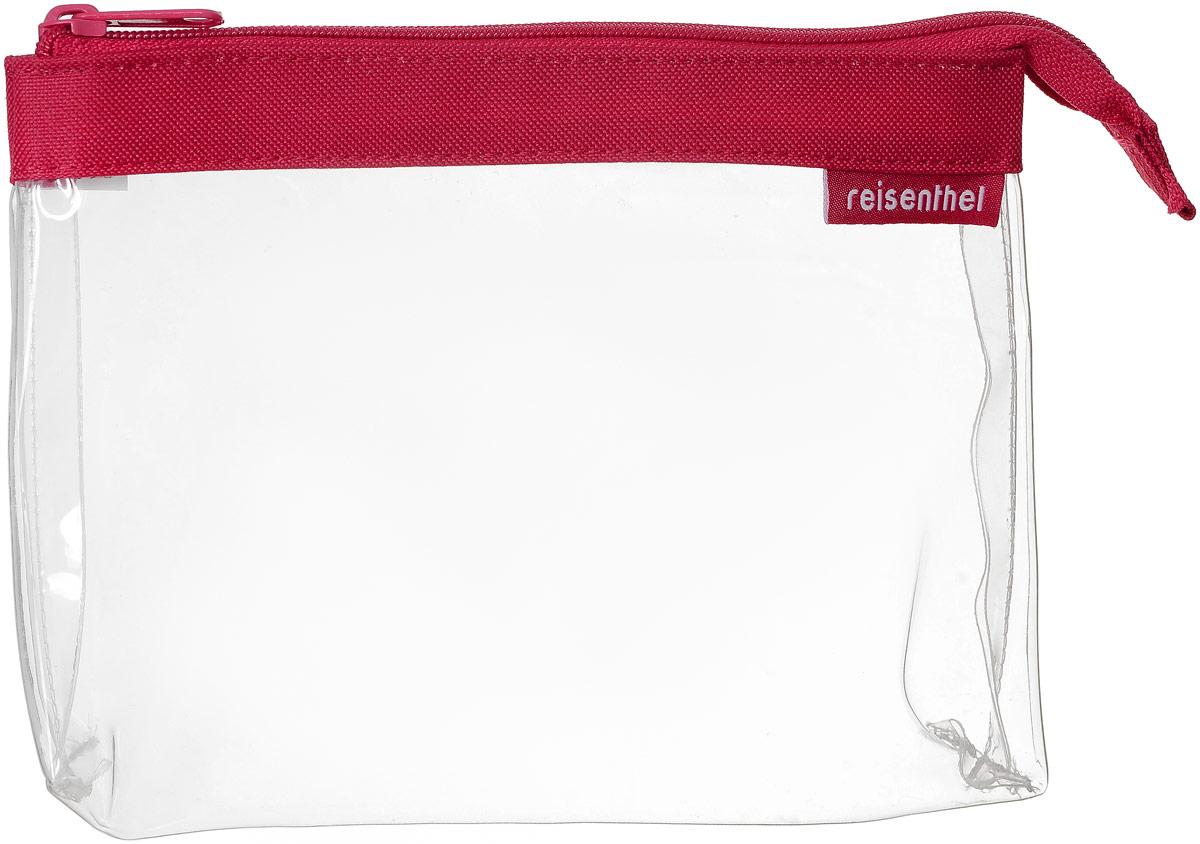 Косметичка Reisenthel, цвет: прозрачный, красный. TY3004TY3004Косметичка Reisenthel выполнена из прозрачного термополиуретана. Изделие застегивается на удобную застежку-молнию и имеет одно отделение. Объем косметички: 1 л.