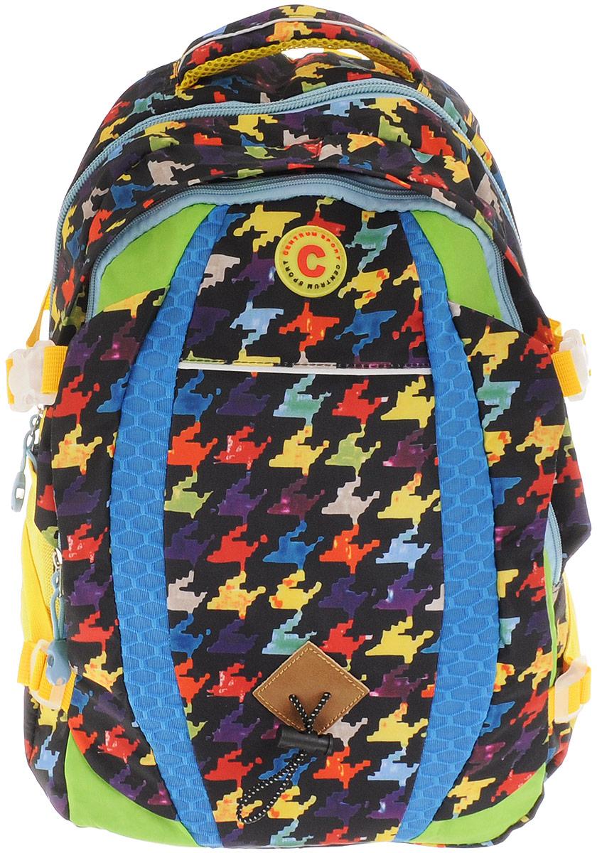Centrum Рюкзак 8682586825Рюкзак Centrum - это современный многофункциональный молодежный рюкзак, который выполнен из прочного износостойкого материала высокого качества. Рюкзак имеет два основных отделения, закрывающиеся на молнии. В самом большом отделении находится широкий накладной карман. По бокам рюкзака расположены два сетчатых кармана на резинках, а также боковые стяжки. Рюкзак оснащен мягкой ручкой для переноски и удобной петлей для подвешивания. Уплотненная спинка и лямки помогают лучше распределить нагрузку и сохранить форму рюкзака независимо от его наполнения. Мягкие широкие лямки позволяют легко и быстро отрегулировать рюкзак в соответствии с ростом.