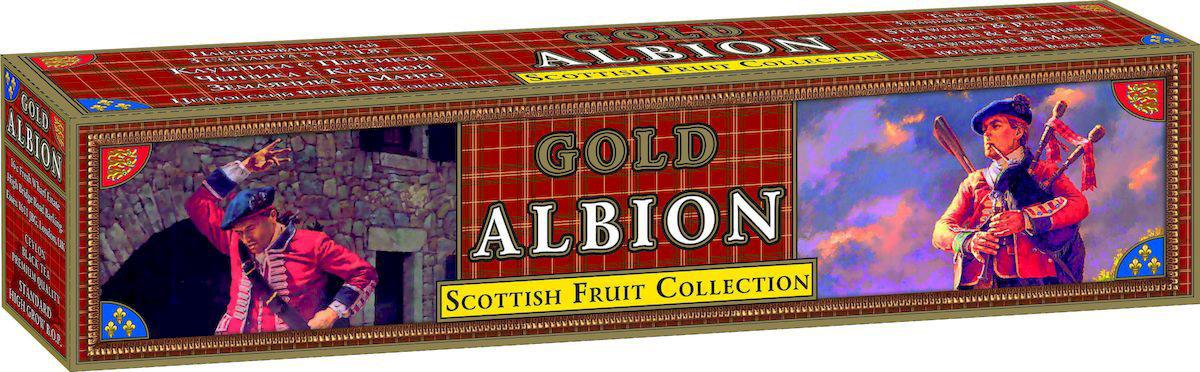 Золотой Альбион Шотландская фруктовая коллекция черный чай в пакетиках, 45 шт60404Цейлонский, черный, пакетированный чай с ароматами: клубники и персика, черники и клюквы, земляники и манго. В упаковке 45 чайных пакетиков. Вес чайного пакетика - 1,8 грамма.