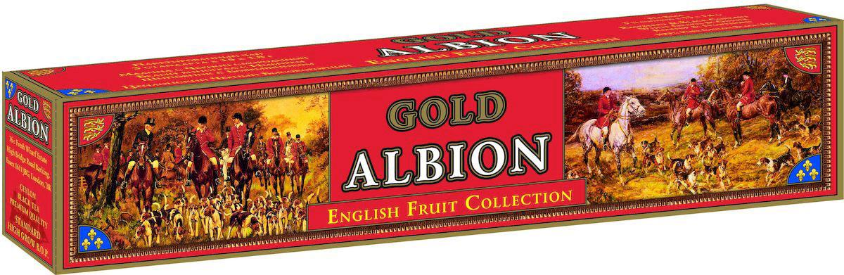 Золотой Альбион Английская фруктовая коллекция черный чай в пакетиках, 45 шт60401Цейлонский, черный, пакетированный чай с ароматами: малины и черной смородины, белого винограда и имбиря, шиповника и боярышника. В упаковке 45 чайных пакетиков. Вес чайного пакетика - 1,8 грамма.