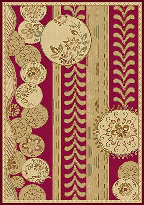 Ковер Mutas Carpet Антик Хом Люрекс, цвет: красный, 80 х 150 см. 2555RE201112061025182555RE20111206102518Ворс полипропилен/акрил, обработка нити хит-сет