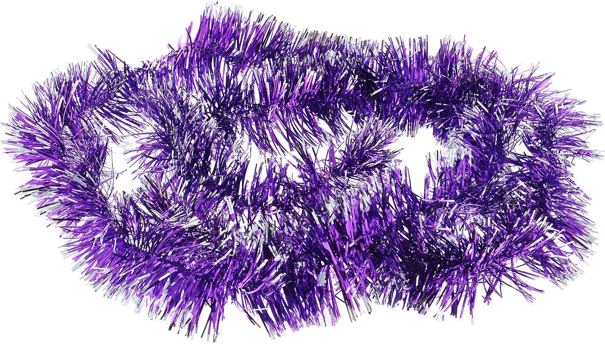 Мишура новогодняя Sima-land, цвет: фиолетовый, серебристый, диаметр 4 см, длина 138 см. 701305701305_фиолетовый/серебристыйНовогодняя мишура Sima-land, выполненная из фольги, поможет вам украсить свой дом к предстоящим праздникам. А новогодняя елка с таким украшением станет еще наряднее. Мишура армирована, то есть имеет проволоку внутри и способна сохранять любую форму, которую вы ей придадите. Новогодней мишурой можно украсить все, что угодно - елку, квартиру, дачу, офис - как внутри, так и снаружи. Можно сложить новогодние поздравления, буквы и цифры, мишурой можно украсить и дополнить гирлянды, можно выделить дверные колонны, оплести дверные проемы.