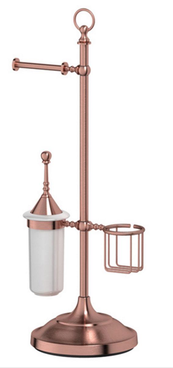 Стойка комбинированная для туалета 3SC Stilmar Un, цвет: античная медь. STI 634STI 634В течение 20 лет компания Lineag разрабатывает и производит эксклюзивные аксессуары для ванной комнаты, используя современные технологии и высококачественные материалы. Каждый продукт Lineag произведен исключительно в Италии. Изысканный дизайн аксессуаров Lineag создает уникальную атмосферу уюта и роскоши в вашей ванной. Высококачественная латунь — дорогостоящий многокомпонентный медный сплав с основным легирующим элементом – цинком. Обладает высокой прочностью и коррозионной стойкостью. Считается лучшим материалом для изготовления аксессуаров, смесителей и другого сантехнического оборудования. Сделано из латуни. Латунь, используемая в производстве аксессуаров, обладает высокой прочностью и коррозионной стойкостью, и считается лучшим материалом для изготовления аксессуаров. Гарантия 12 лет. Высокое качество продукции позволяет производителю предоставлять 12-летнюю гарантию на изделия при условии их правильной эксплуатации. Произведено в Италии. Весь технологический цикл...