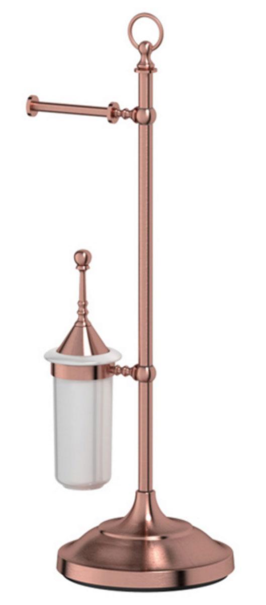 Стойка комбинированная для туалета 3SC Stilmar Un, цвет: античная медь. STI 633STI 633В течение 20 лет компания Lineag разрабатывает и производит эксклюзивные аксессуары для ванной комнаты, используя современные технологии и высококачественные материалы. Каждый продукт Lineag произведен исключительно в Италии. Изысканный дизайн аксессуаров Lineag создает уникальную атмосферу уюта и роскоши в вашей ванной. Высококачественная латунь — дорогостоящий многокомпонентный медный сплав с основным легирующим элементом – цинком. Обладает высокой прочностью и коррозионной стойкостью. Считается лучшим материалом для изготовления аксессуаров, смесителей и другого сантехнического оборудования. Сделано из латуни. Латунь, используемая в производстве аксессуаров, обладает высокой прочностью и коррозионной стойкостью, и считается лучшим материалом для изготовления аксессуаров. Гарантия 12 лет. Высокое качество продукции позволяет производителю предоставлять 12-летнюю гарантию на изделия при условии их правильной эксплуатации. Произведено в Италии. Весь технологический цикл...