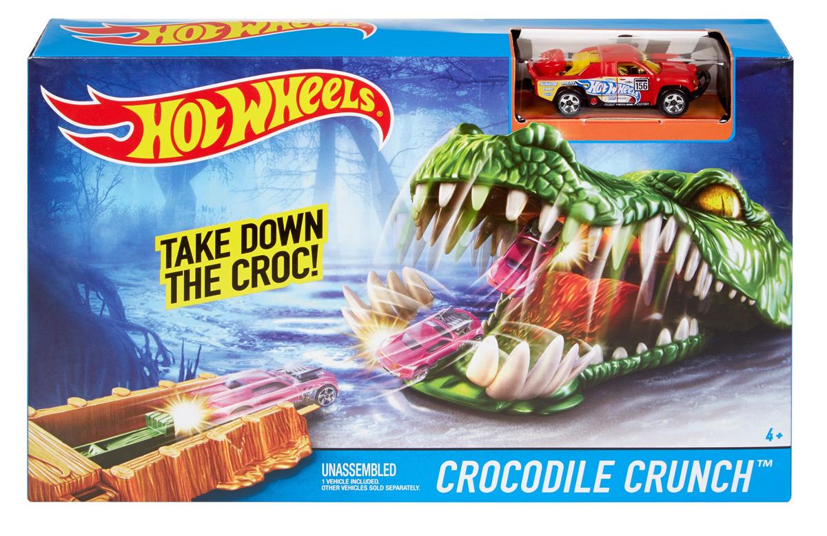 Hot Wheels Игрушечный трек Crocodile Crunch