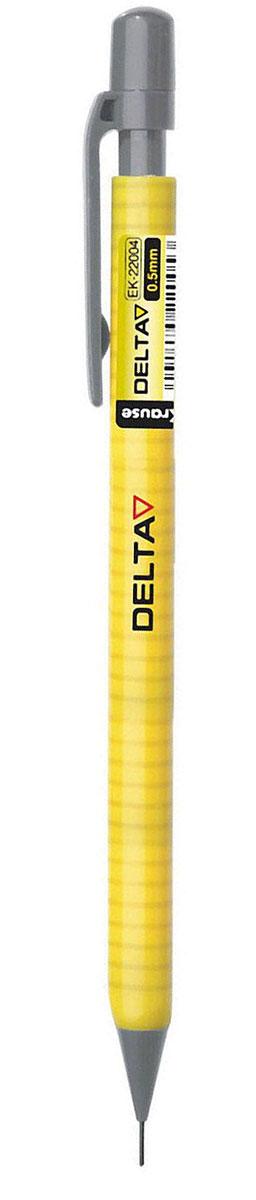 Erich Krause Карандаш механический DeltaEK-22004Механический карандаш Erich Krause Delta - незаменимый атрибут современного делового человека. Корпус карандаша треугольной формы выполнен из легкого качественного пластика. Дополнен корпус удобным пластиковым держателем. Карандаш оснащен сменным ластиком, который убирается под пластиковую крышку. Убирающийся внутрь кончик грифеля обеспечивает безопасное ношение карандаша в кармане. Толщина линии: 0,5 мм.