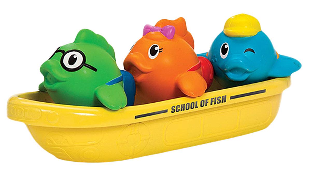 Munchkin Игровой набор для ванной Школа рыбок12002Игрушка для ванной Munchkin Школа рыбок непременно понравится вашему малышу и превратит купание в веселую игру. Лодочка с тремя забавными пассажирами станет любимой игрушкой для купания! Разноцветные рыбки плавают в лодке и весело брызгаются водой. А самой лодочкой можно зачерпывать воду и использовать ее в качестве ковшика для смывания шампуня. Набор Школа рыбок доставит крохе массу удовольствия во время купания!