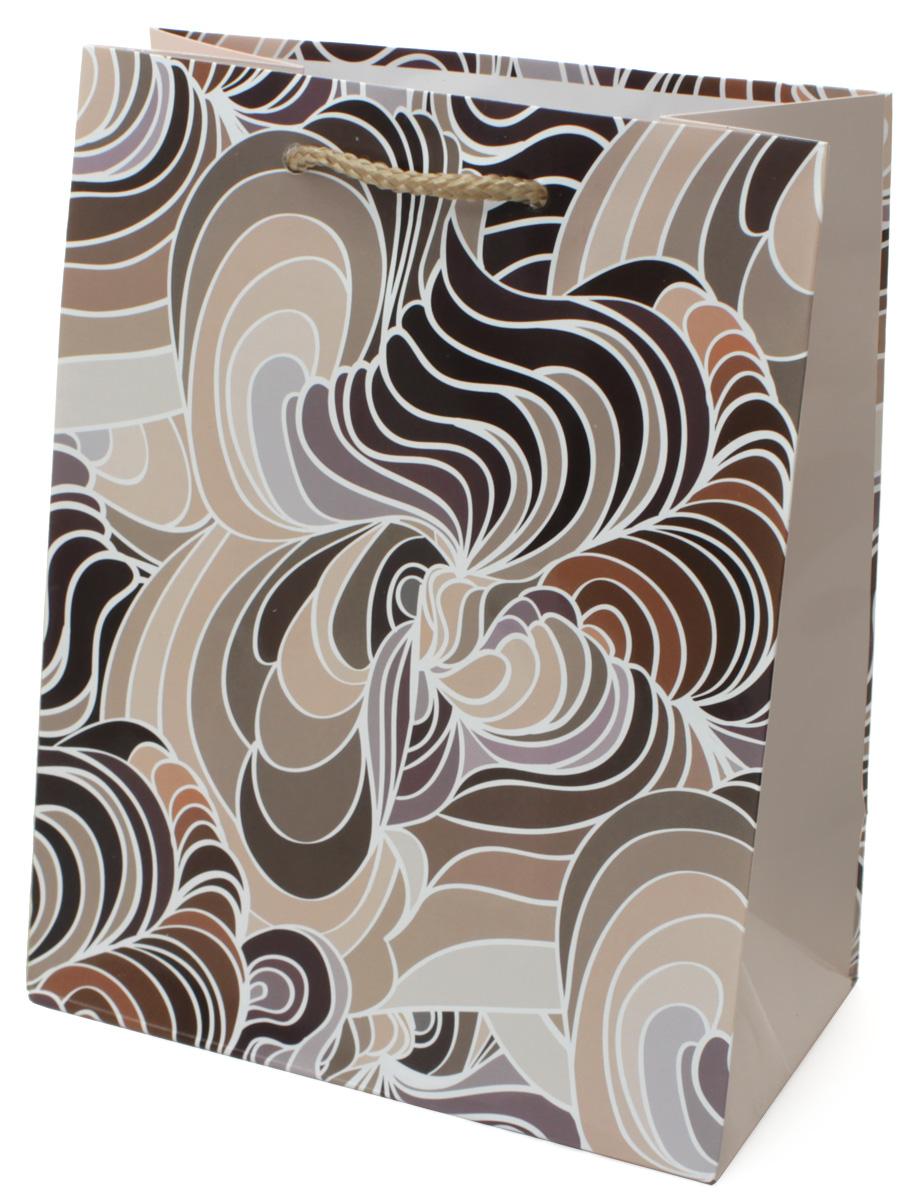Пакет подарочный МегаМАГ Разводы, цвет: бежевый, 18 х 22,7 х 10 см. 2167 M2167 MПакет подарочный ламинированный. Ручки-шнурки. Размер:180*227*100 мм .