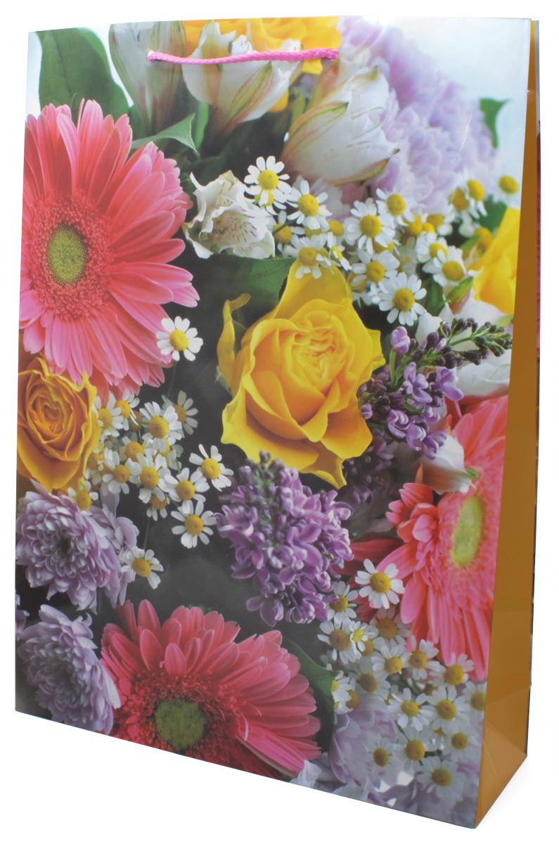 Пакет подарочный МегаМАГ Цветы, 32,4 х 44,5 х 10,2 см. 5041 XL5041 XLПакет подарочный ламинированный. Ручки-шнурки. Размер: 324*445*102 мм .