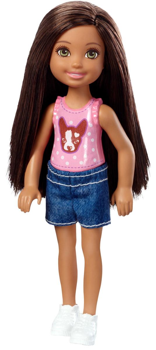 Barbie Мини-кукла Челси с сачком для ловли бабочекDWJ33_DWJ36Мини-кукла Barbie Челси порадует любую девочку, ведь она такая приветливая и веселая, что может поднять настроение одним своим присутствием. Челси собралась на веселую прогулку. Для активной прогулки у куколки у неё имеется сачок для ловли бабочек. У куклы длинные темные волосы, что позволит ребенку придумывать разнообразные прически. Малышка одета в пластиковый розовый топ с принтом собачки и синие шортики. На ножках - спортивные ботиночки белого цвета. Голова, ручки и ножки куклы подвижны. Игрушка изготовлена из качественных и безопасных материалов. Благодаря играм с куклой, ваша малышка сможет развить фантазию и любознательность, овладеть навыками общения и научиться ответственности. Порадуйте свою принцессу таким прекрасным подарком!