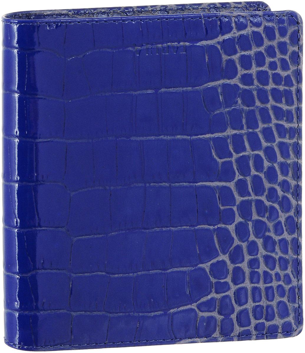 Визитница женская Fabula Croco Nile, цвет: ультрамарин. V.57/1.KRV.57/1.KR ультрамаринЖенская визитница Fabula Croco Nile выполнена из высококачественной натуральной кожи с фактурным тиснением под крокодила. Внутри имеется два кармана и блок из двадцати двойных отделений для визиток из прозрачного пластика. Изделие упаковано в фирменную коробку. Такая визитница станет отличным подарком для человека, ценящего качественные и практичные вещи.