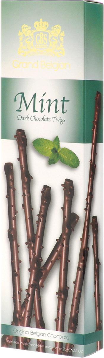 GBS Хворост из горького шоколада со вкусом мяты, 75 г 7.14.03
